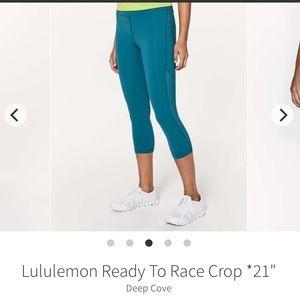 Lululemon Ready To Race Crop Legging